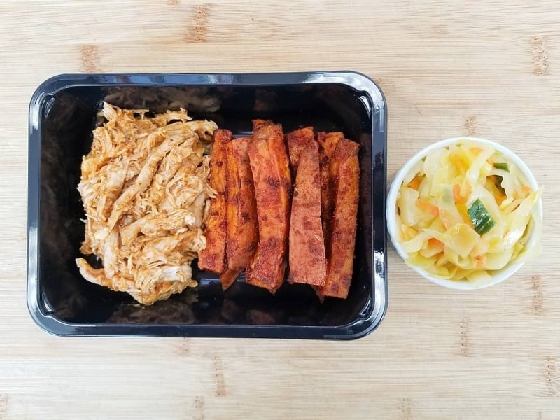 PREPSHOP product image: Pulled Chicken with Sweet Potato Fries